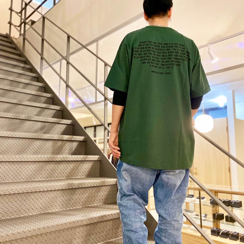 CREW NECK COLOR T-SHIRT TYPE 1 #GREEN [21SS-WMT-TEE01]