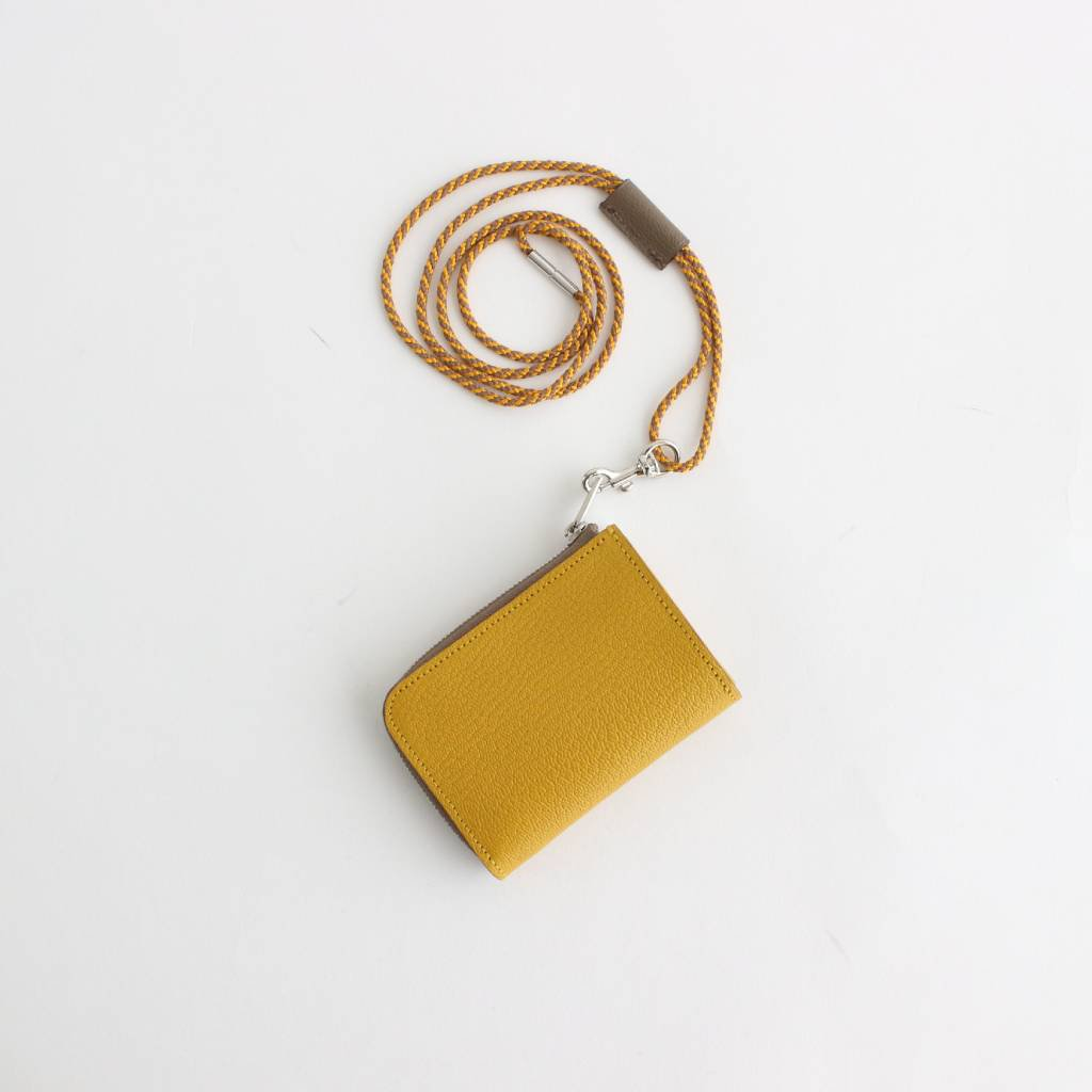 ITUAIS|MONTADO NECK MINI WALLET #YELLOW