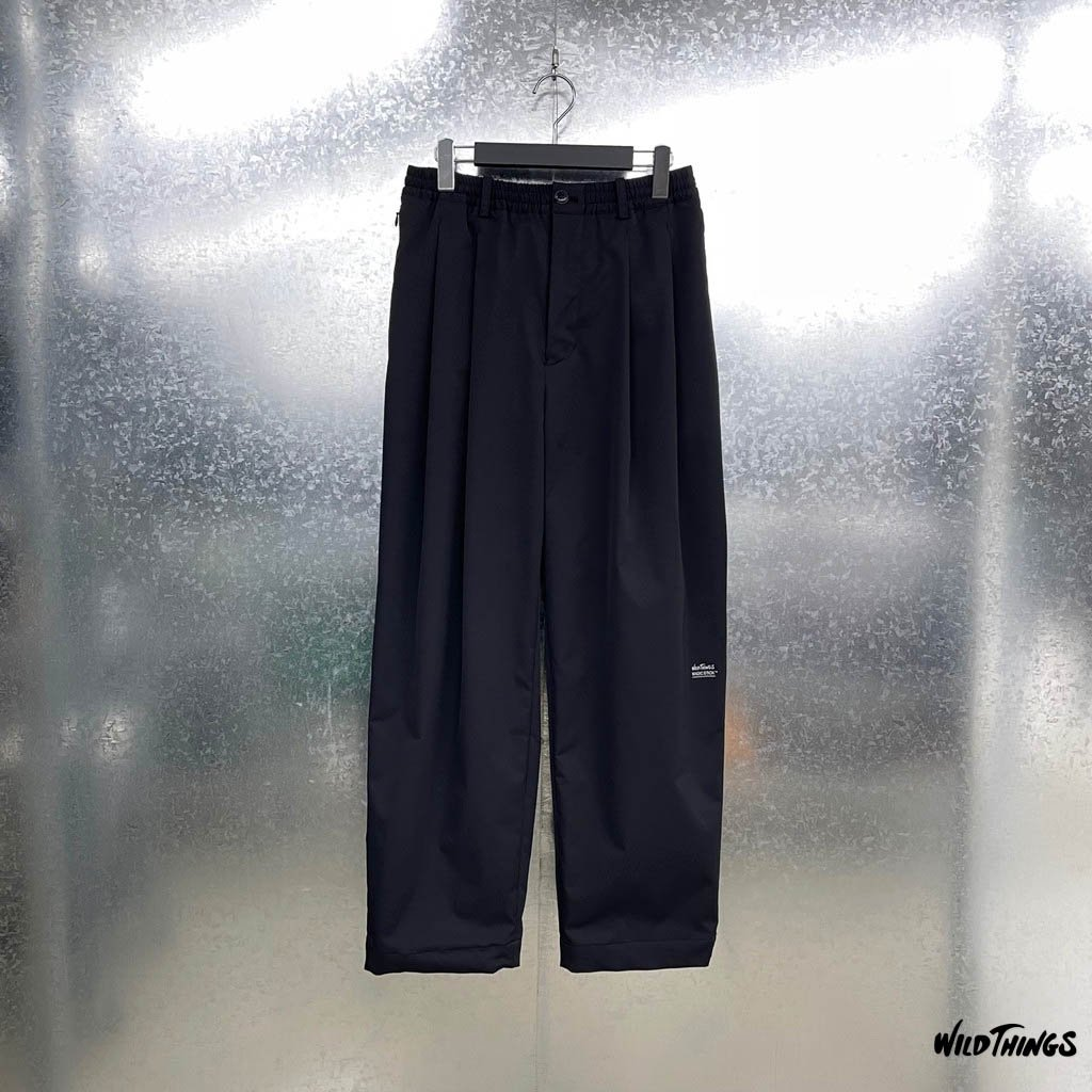 MAGIC STICK|WILDTHINGS | CORE WIDE TROUSERS #BLACK [21SS-MS2-016]