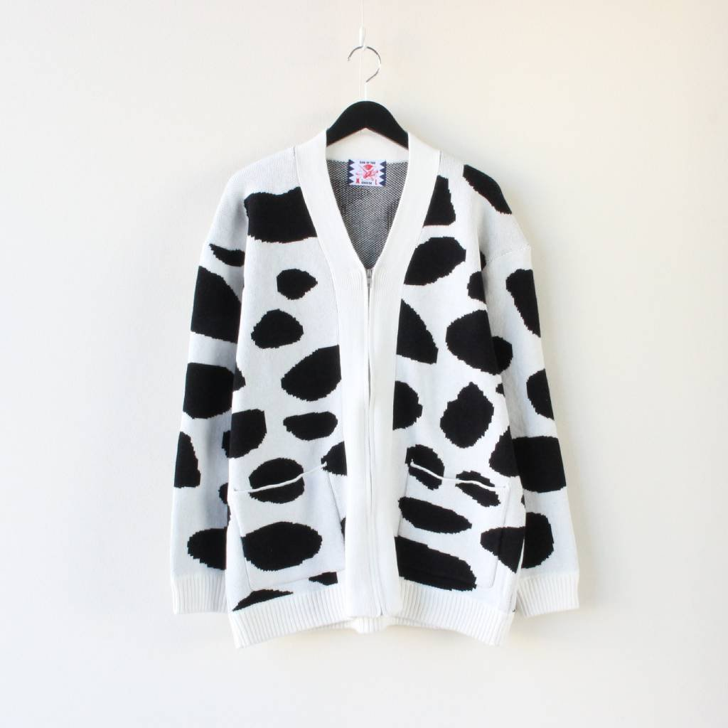 SON OF THE CHEESE|DALMATIAN CARDIGAN #WHITE [SC2110-KN05]