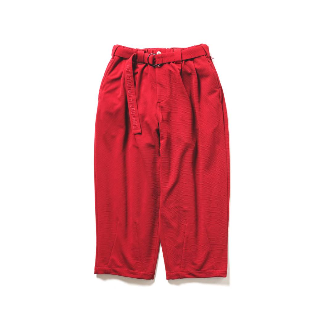 TIGHTBOOTH PRODUCTION|RIPPLE KNIT BAGGY SLACKS #RED [SS21-B05]