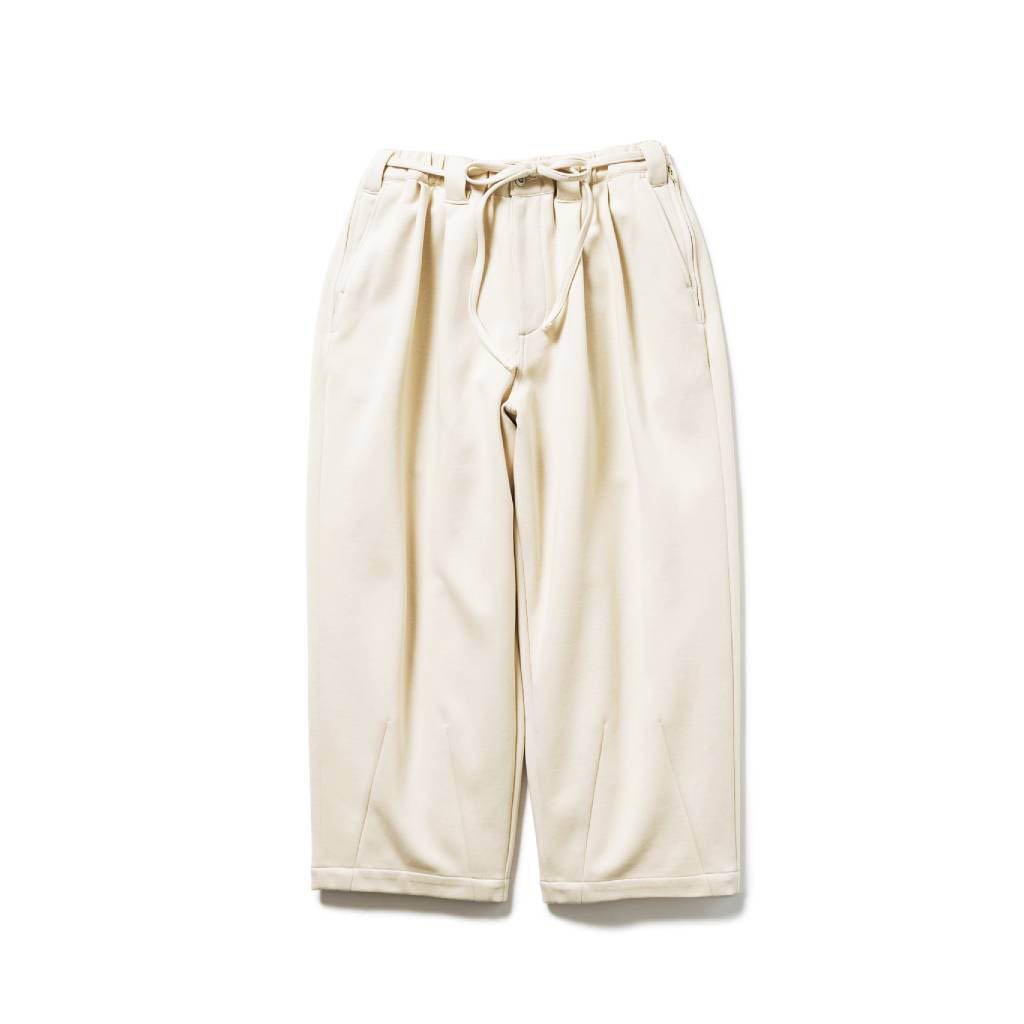TIGHTBOOTH PRODUCTION SMOOTH BAGGY SLACKS #IVORY [SS21-B03]