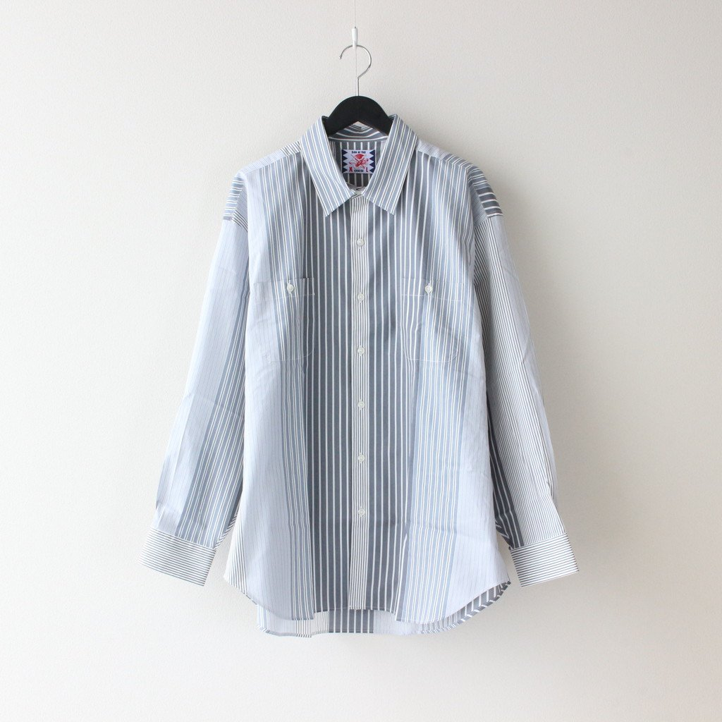 SON OF THE CHEESE|ALT STRIPE SHIRT #GRAY [SC2110-SH08]