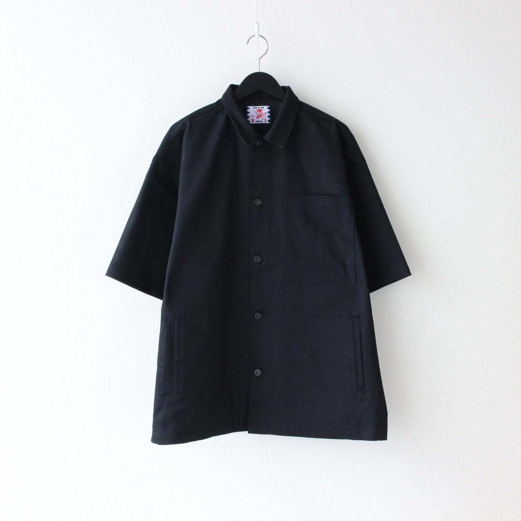 SON OF THE CHEESE|S/S COVERALL SHIRT #BLACK [SC2110-SH09]