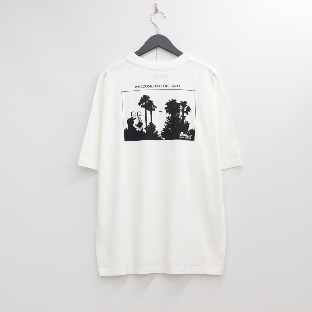 Dunno|TRAVEL SERVICE TEE #WHITE [DN0800803]