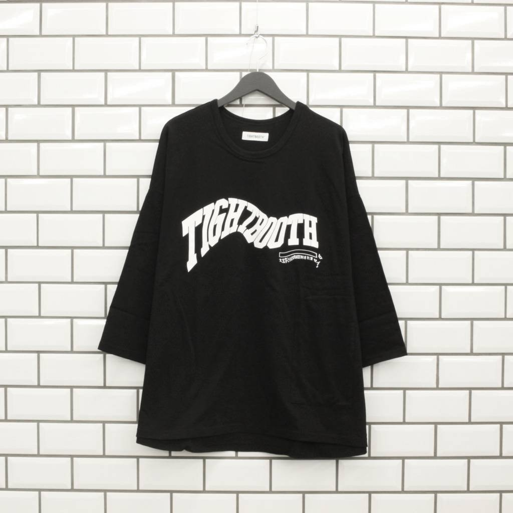 TIGHTBOOTH PRODUCTION|ACID LOGO 7 SLEEVE T-SHIRT #BLACK [SS21-T04]