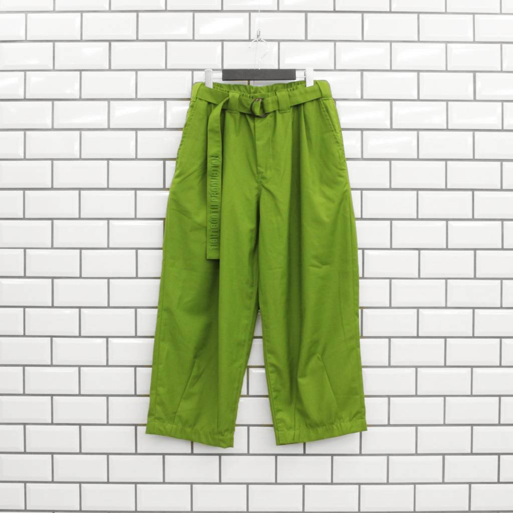TIGHTBOOTH PRODUCTION BAGGY SLACKS #PICKLES [SS21-B02]