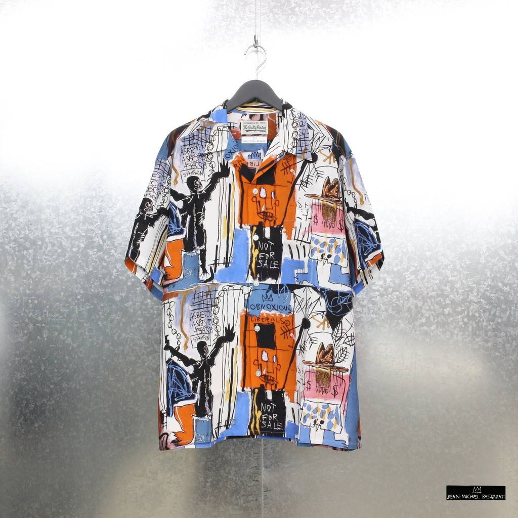 WACKO MARIA|JEAN-MICHEL BASQUIAT | S/S HAWAIIAN SHIRT TYPE 3 #ONE [BASQUIAT-WM-HI06]