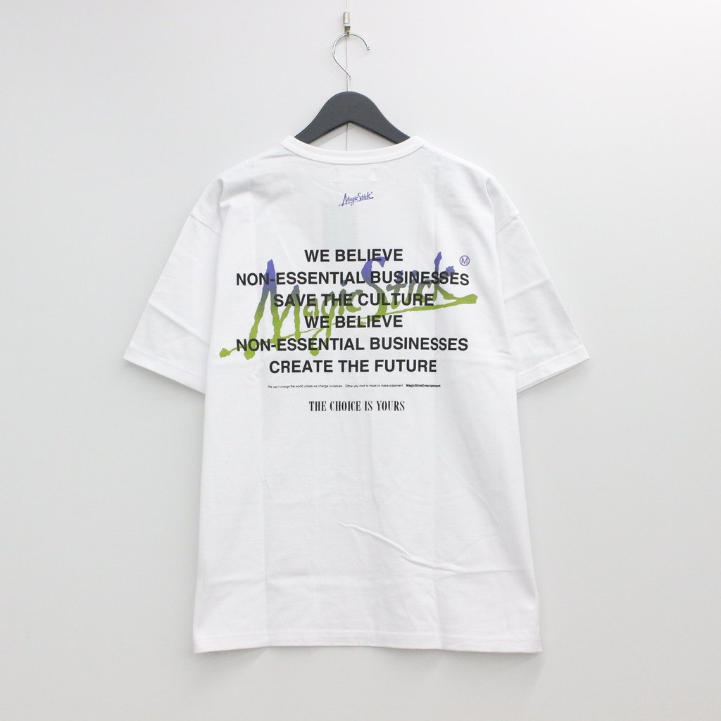 MAGIC STICK CONCEPT TEE #WHITE [21SS-MS4-041]