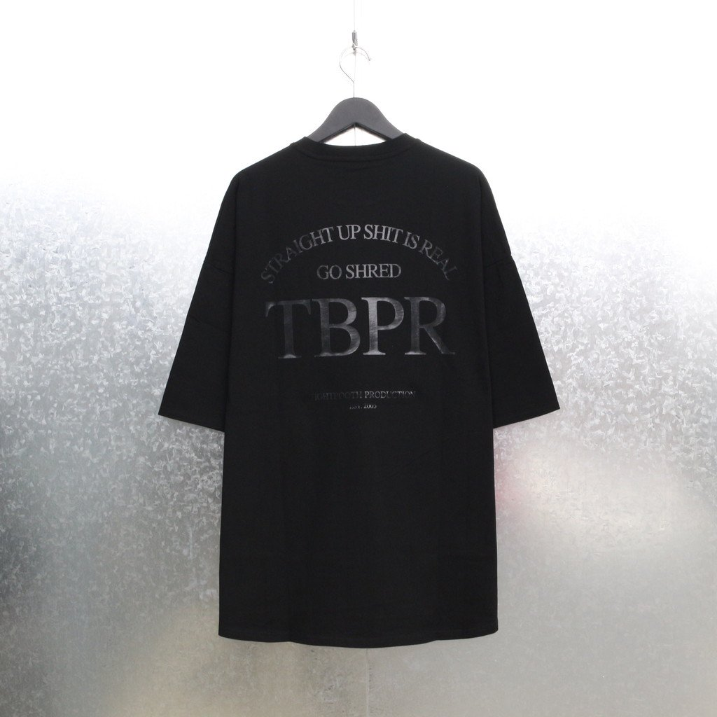 TIGHTBOOTH PRODUCTION STRAIGHT UP T-SHIRT #BLACK [SS21-T03]