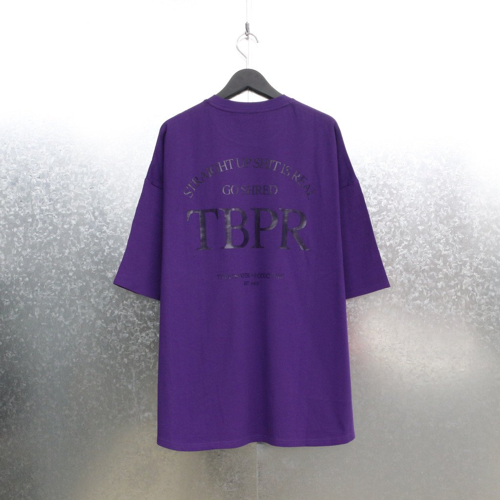 TIGHTBOOTH PRODUCTION|STRAIGHT UP T-SHIRT #PURPLE [SS21-T03]