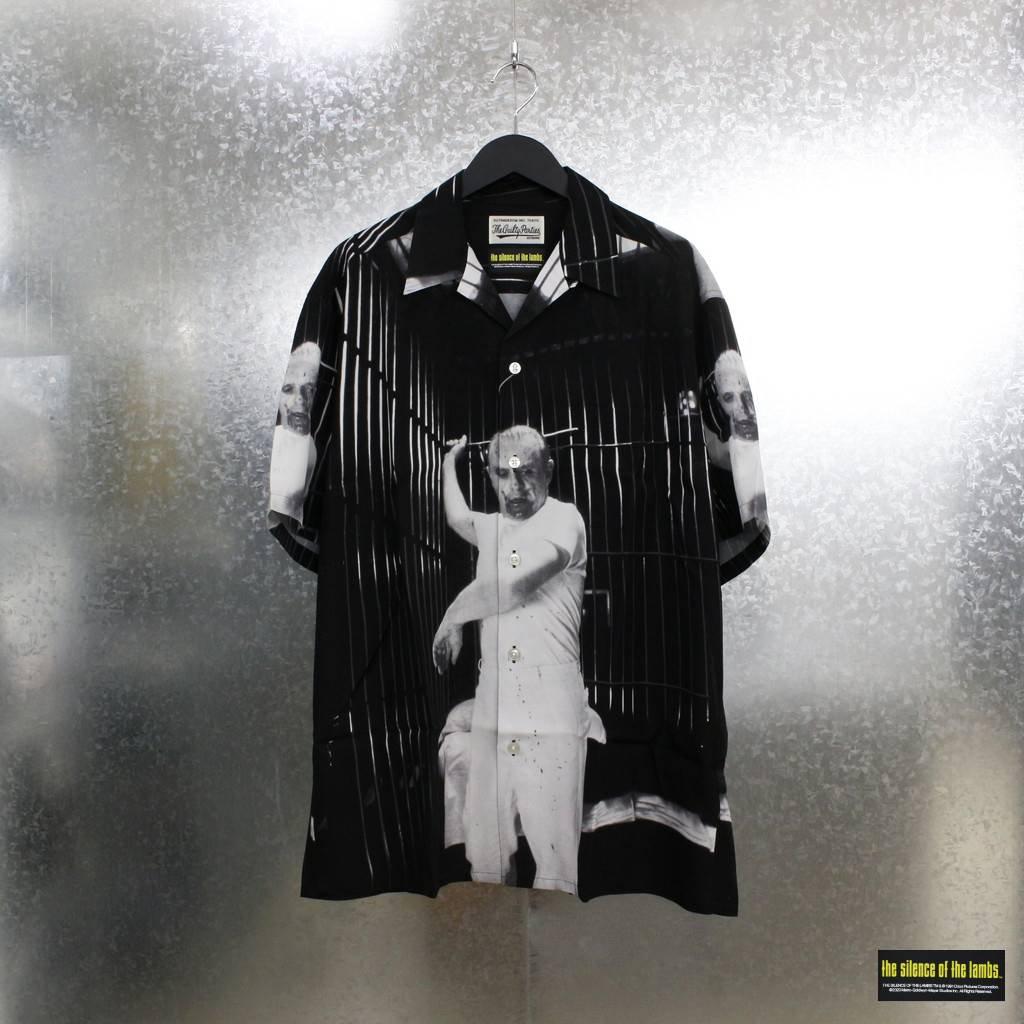 WACKO MARIA|THE SILENCE OF THE LAMBS | S/S HAWAIIAN SHIRT TYPE 2 #BLACK-WHITE [SOL-WM-HI02]