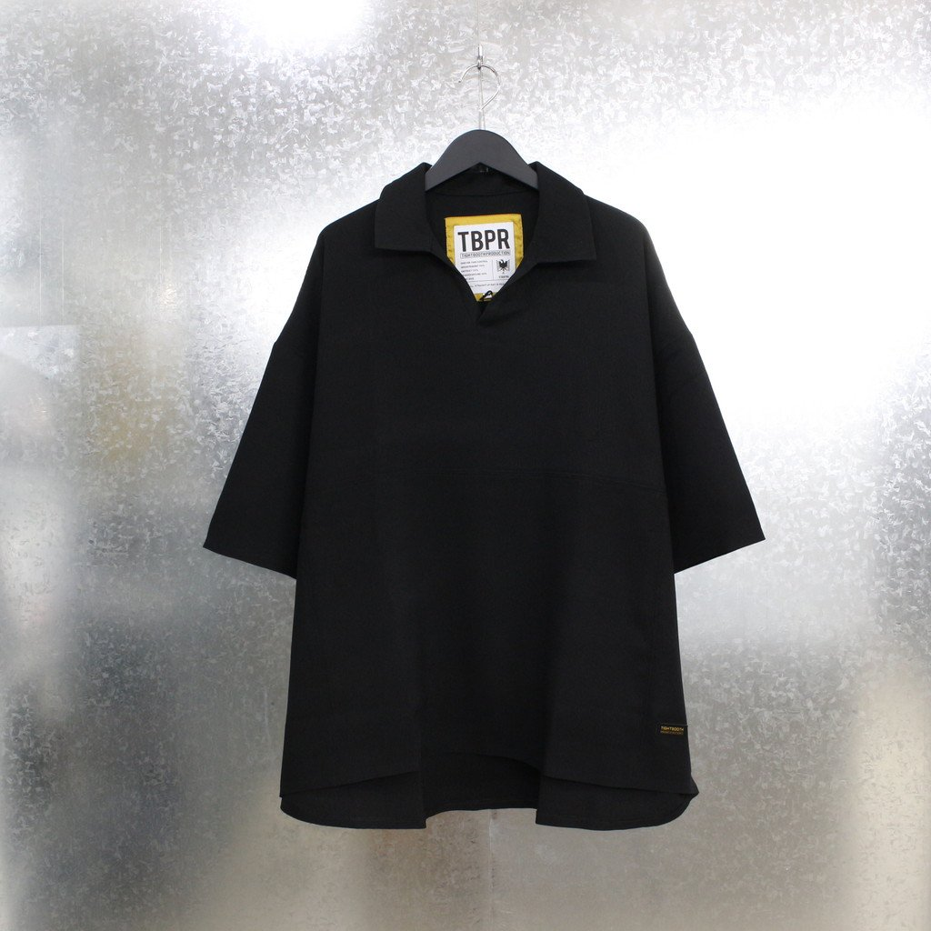 TIGHTBOOTH PRODUCTION|PINHEAD OPEN POLO #BLACK [SS21-S06]