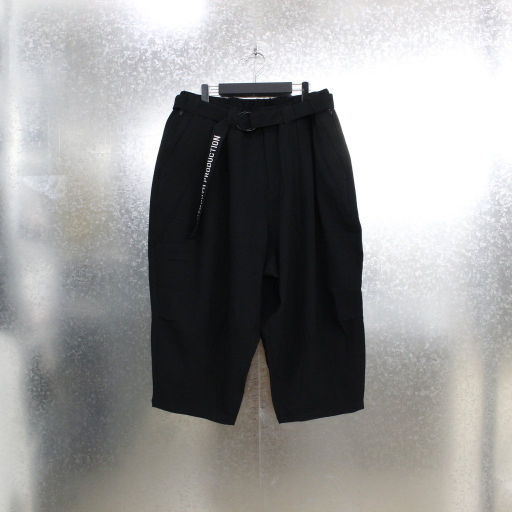 TIGHTBOOTH PRODUCTION|PINHEAD CROPPED PANTS #BLACK [SS21-B07]