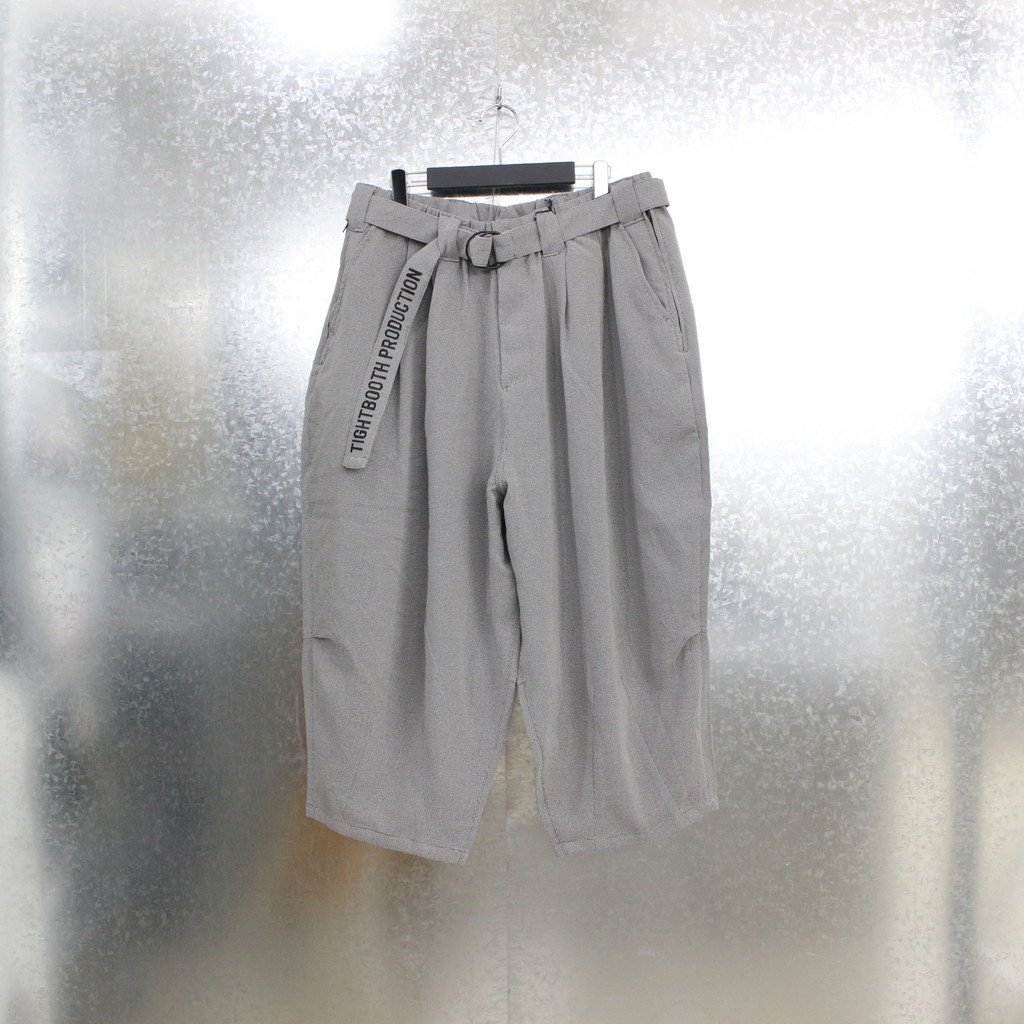 TIGHTBOOTH PRODUCTION PINHEAD CROPPED PANTS #GREY [SS21-B07]