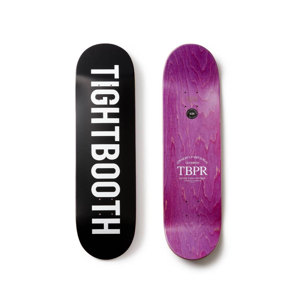 TIGHTBOOTH PRODUCTION|SKATE DECK LOGO #BLACK [SS21-D01]