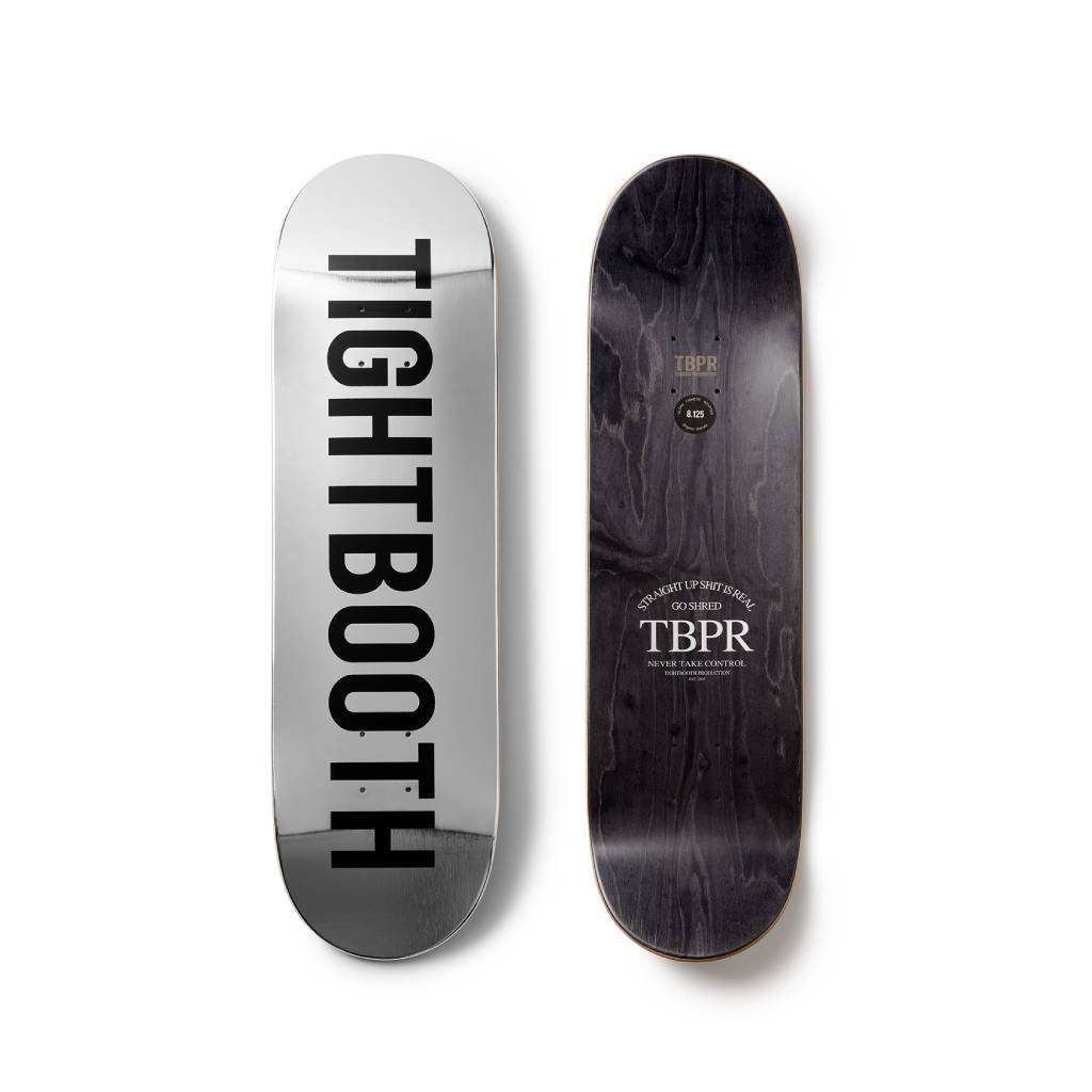 TIGHTBOOTH PRODUCTION|SKATE DECK LOGO #SILVER [SS21-D03]