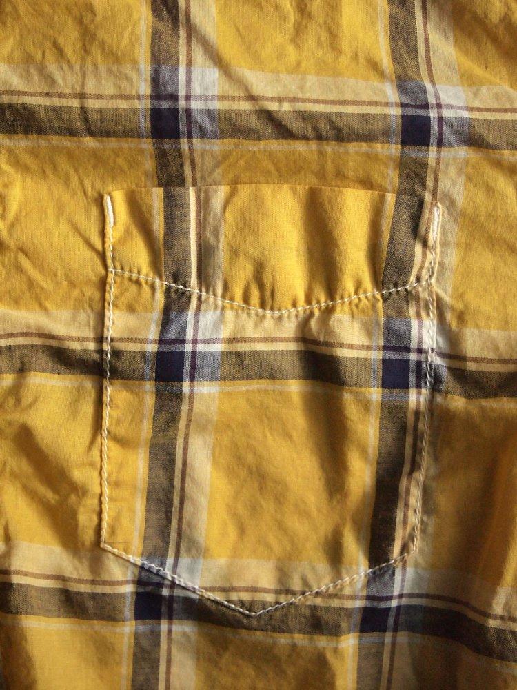 REMI RELIEF | レミレリーフ ライトオンスチェックP/Oシャツ #YELLOW