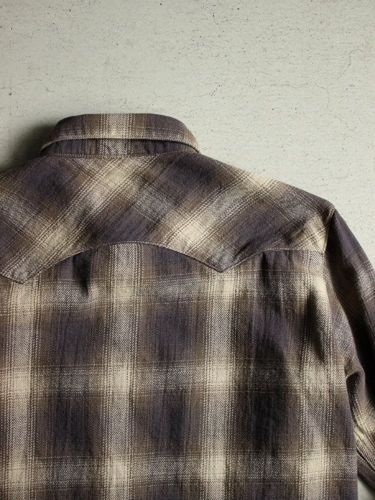 Nasngwam. | ナスングワム ARIZONA SHIRT (NEL CHECK) #BROWN