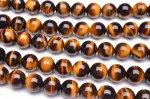 高品質AA タイガーアイ 10mm 1連(約38cm)_R5038-10 天然石 卸売問屋 パワーストーン卸通販の福縁閣 ブレスレット 連ビーズ アクセサリー