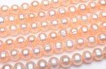 淡水真珠パール ラウンド オレンジ 7〜8mm 1連(約35cm)_R5044-7 天然石 卸売問屋 パワーストーン卸通販の福縁閣 ブレスレット 連ビーズ アクセサリー