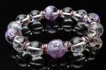 水晶紫彫青龍&水晶AA 14mm デザインブレス_A566