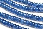 カイヤナイト ボタン 3x6mm 1連(約38cm)_R5125-6 天然石 卸売問屋 パワーストーン卸通販の福縁閣 ブレスレット 連ビーズ アクセサリー