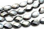 ブラックシェル(黒蝶貝) オーバルカット 10x14mm  1連(約38cm)_R5349-10 天然石 卸売問屋 パワーストーン卸通販の福縁閣 ブレスレット 連ビーズ アクセサリー