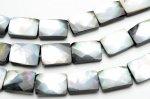 ブラックシェル(黒蝶貝) レクタングルカット 10x14mm  1連(約38cm)_R5350-10 天然石 卸売問屋 パワーストーン卸通販の福縁閣 ブレスレット 連ビーズ アクセサリー