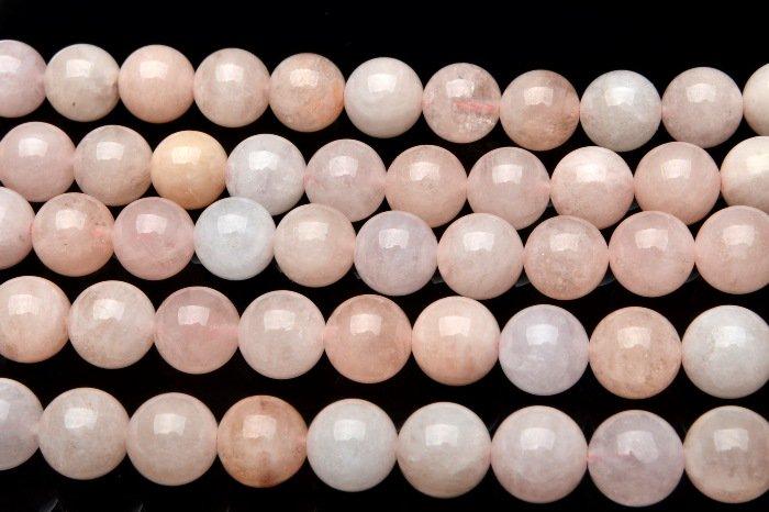 ピンクモルガナイト 8mm  1連(約38cm)_R5355-8 天然石 卸売問屋 パワーストーン卸通販の福縁閣 ブレスレット 連ビーズ