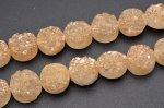 ドゥルージークォーツ オレンジ ラウンド 12mm 1連(約20cm)_R5463-5 天然石 卸売問屋 パワーストーン卸通販の福縁閣 ブレスレット 連ビーズ アクセサリー
