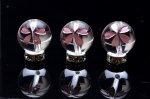 【彫刻 水晶 ピンク彫り 桜】 12mm 粒売り_T260-12