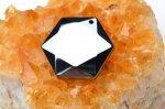 高純度 テラヘルツ鉱石 (小)六芒星(ダビデの星・ヘキサグラム) 21mm ペンダントトップ_R5505-11 天然石 卸売問屋 パワーストーン卸通販の福縁閣 ブレスレット 連ビーズ アクセサリー