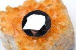 高純度 テラヘルツ鉱石 (小)六芒星 丸型(ダビデの星・ヘキサグラム) 25mm ペンダントトップ_R5505-14 天然石 卸売問屋 パワーストーン卸通販の福縁閣 ブレスレット 連ビーズ アクセサリー
