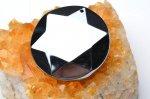 高純度 テラヘルツ鉱石 (大)六芒星 丸型(ダビデの星・ヘキサグラム) 36mm ペンダントトップ_R5505-16 天然石 卸売問屋 パワーストーン卸通販の福縁閣 ブレスレット 連ビーズ アクセサリー
