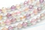 水晶ミックス(クォーツ系&フローライト) シンプルスターカット 6mm 1連(約38cm)_R5512-6 天然石 卸売問屋 パワーストーン卸通販の福縁閣 ブレスレット 連ビーズ アクセサリー