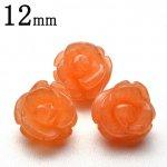 オレンジアベンチュリン 薔薇カット 12mm 粒売り_T391-12
