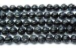 オニキス バラカット 12mm 1連(約38cm)_R1180-12 天然石 卸売問屋 パワーストーン卸通販の福縁閣 ブレスレット 連ビーズ アクセサリー