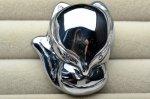 テラヘルツ 狐 (穴あき) 32x27x14mm ペンダントトップ_R5553 天然石 卸売問屋 パワーストーン卸通販の福縁閣 ブレスレット 連ビーズ アクセサリー