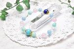 高品質 ラリマー&アクアマリン 11.5mm ブレスレット_A569 天然石 卸売問屋 パワーストーン卸通販の福縁閣 ブレスレット 連ビーズ アクセサリー