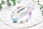 高品質 ラリマー&水晶スターカット 11.5mm ブレスレット_A571 天然石 卸売問屋 パワーストーン卸通販の福縁閣 ブレスレット 連ビーズ アクセサリー