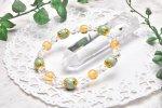 高品質 ビルマ翡翠&シトリン 9mm ブレスレット_A581