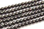 黒水晶モリオン 4mm 1連(約38cm)_RG8-8 天然石 卸売問屋 パワーストーン卸通販の福縁閣 ブレスレット 連ビーズ アクセサリー