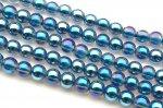 水晶ブルーオーラ 4mm 1連(約38cm)_RG8-12 天然石 卸売問屋 パワーストーン卸通販の福縁閣 ブレスレット 連ビーズ アクセサリー