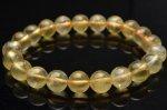 【1点物】濃色 透明 ゴールデンプレナイト 9mm ブレスレット_V6482 天然石 卸売問屋 パワーストーン卸通販の福縁閣 ブレスレット 連ビーズ アクセサリー