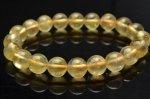 【1点物】濃色 透明 ゴールデンプレナイト 9mm ブレスレット_V6485 天然石 卸売問屋 パワーストーン卸通販の福縁閣 ブレスレット 連ビーズ アクセサリー