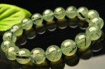【1点物】ブラックトルマリンインプレナイト 11.5mm ブレスレット_F3291 天然石 卸売問屋 パワーストーン卸通販の福縁閣 ブレスレット 連ビーズ アクセサリー