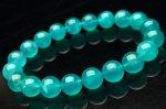 【1点物】アイスアマゾナイト(アマゾナイトシリカ) 9.5mm ブレスレット_F3533 天然石 卸売問屋 パワーストーン卸通販の福縁閣 ブレスレット 連ビーズ アクセサリー