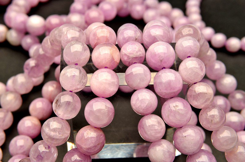 ピンククンツァイト 9.5mm ブレスレット_BG138-95 天然石 卸売問屋 パワーストーン卸通販の福縁閣 ブレスレット 連ビーズ