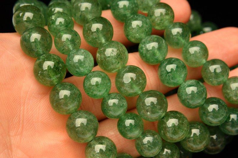 グリーンアベンチュリン 9.5mm ブレスレット_BG401-95 天然石 卸売問屋 パワーストーン卸通販の福縁閣 ブレスレット 連ビーズ
